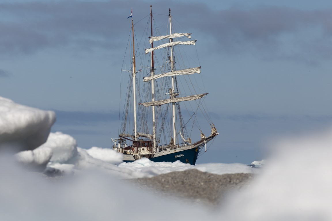 Tall Ship Antigua in Spitzbergen